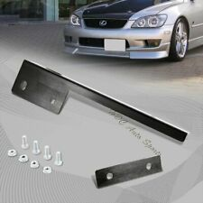 For Honda Acura Black Aluminum Bumper Front License Plate Mount Relocate Bracket