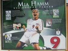 Mia Hamm autographed signed Team USA 16 x 20 photo collage Steiner COA