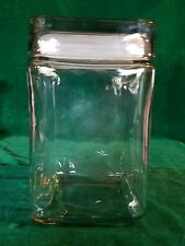"VINTAGE GLASS COOKIE/CANDY JAR/CANNISTER (7 3/8"" X 4"" X 4"")"