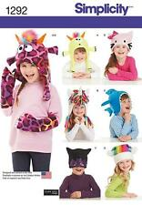SIMPLICITY SEWING PATTERN CHILD'S HAT & MITTENS IN 2 SZIES S - L 1292