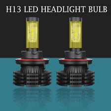 Dual Color 2pcs H13 9008 LED Headlight Bulbs Hi/Low Beam 1800W 300000LM X4-Black