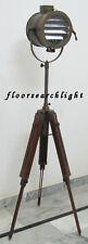 NAUTICAL STYLISH DECOR SPOT LIGHT SEARCHLIGHT STUDIO FLOOR LAMP TRIPOD STAND