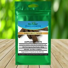 NoFillerSupplements 100% Pure Liquorice Root Powder Vegetable Capsules