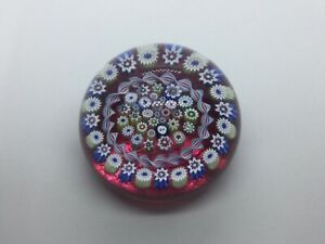 BEAUTIFUL SCOTTISH JOHN DEACON MILLEFIORI PINK PAPERWEIGHT WITH JD CANE EXCELLEN