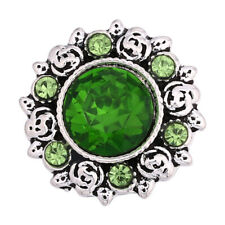 Fashion 3D Rhinestone 18mm Ginger Snaps Chunk Charm Button Fit Snaps Jewelry