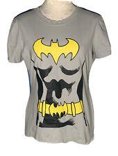 Batgirl Costume T-Shirt Cape Adult Womens Bat Girl Female Superhero Tee Size L