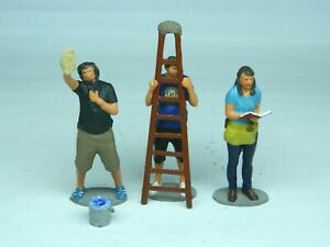 1/32 (54mm) scale figures Window cleaners