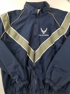 US Air Force Jacket Full Zip Blue Gray Jacket size Small
