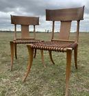 Pair Klismos Chairs designed by T.H. Robsjohn-Gibbings for Sardis of Athens
