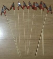 10 X Large Crocadile Clips With Bamboo Sticks Ideal Painting Holders
