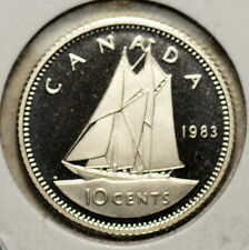 CANADA GEM PROOF CAMEO 10 CENTS 1983 (MULTIPLE COINS AVAILABLE)