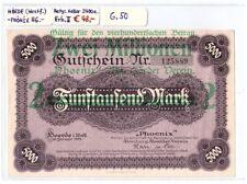 Notgeld Hörde (Westfalen) Phönix AG, 2 Millionen Mark, Keller 2400a