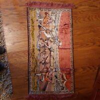 Tapestry, rug, fringed, antique