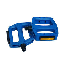 New High Quality Cervus Mountain BMX Plastic Pedals With Reflector Blue