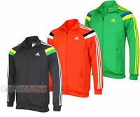adidas Mens Performance Anthem Black Red Green Tracksuit Training Track Top