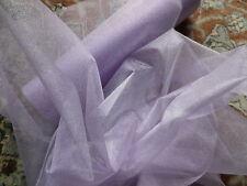 Lilac Mauve Mirror Organza Sheer Fabric Dresses Petticoats Tutus Craft 28cm wide