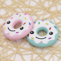 FJ- FOOD-GRADE SILICONE SMILING DONUT NEWBORN BABY TEETHER TEETHING CHEWING TOY