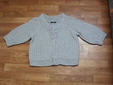 Womens jumper/cardie by George, size 10, grey, cropped, 3/4 sleeve