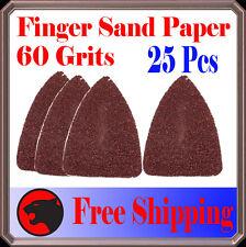 Pack 25 Sandpaper Oscillating Multi Tool Fein 60 Grit Finger Sand Paper Abrasive