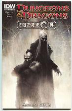 Dungeons & Dragons Annual 2012 Eberon 1 A IDW NM