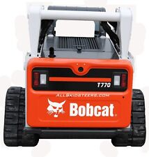 Bobcat Back Door White Decal Sticker Skid Steer S595 S630 S650 S740 S770 S850