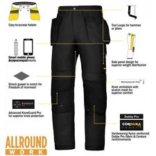Snickers Trousers 6201 AllroundWork Holster Pocket Mens Black Workwear Pre
