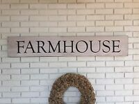 """Large Rustic Wood Sign - """"Farmhouse"""" - Fixer Upper Style, Home Decor"""
