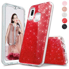 For Samsung Galaxy A20/A30 Hybrid Shockproof Glitter Sparkle Bling Case Cover