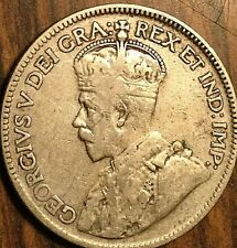 1934 CANADA SILVER 25 CENTS COIN