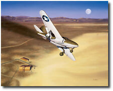 The Beginning by Mike Machat - Bell XP-59 Airacomet - Aviation Art Print