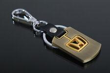 new Honda Style Car Keychain Brushed leather keyring Collect Key Ring key chain