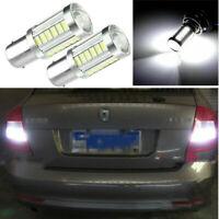 2X33-SMD 100W 156 BA15S LED Auto Weiß Umkehren Wende Rücklicht Lampe Licht Halt