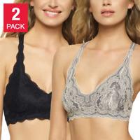 SALE!  Felina Womens Bra Bralette 2 Pack Lace T-Back Design-SIZE/ COLOR VARIETY