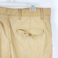 Levi's Mens Cargo Shorts Sz 34 Beige Tan Pockets Cotton Blend Flat Front A30-12