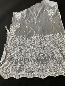 ANTIQUE LACE - TAMBOUR LACE CURTAIN FOR DRESSMAKER, ETC.