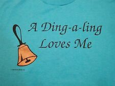 Vintage A Ding A Ling Loves Me Boyfriend Girlfriend Funny Marriage T Shirt M