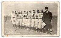1909 RPPC New Richland, MN Baseball Team Real Photo Postcard *6A4