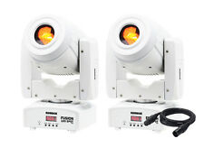 2 x Equinox Fusion 100 Spot MKII (White Housing) EQLED069A LED DMX Lead Package