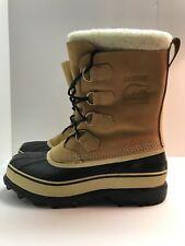 Sorel Caribou Snow Rain Boots Mens 8 Tan
