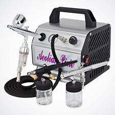 New 3 Airbrush Kit & Air Compressor Dual-Action Spray Paint Guns Tattoo Nail Art