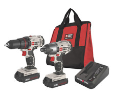 Tool Combo Kit Cordless Impact Driver Drill PORTERCABLE PCCK604L2 Max Li-Ion New