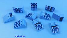 LEGO® /  2x3 Schrägsteine blau  (Dachsteine) 25° / 10 Stück