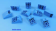 LEGO / 2x3 Mattoncini obliqui blu (Tegole) 25° / 10-pc