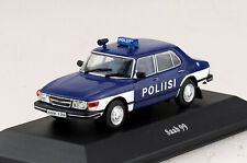 Saab 99 1974 Polizei 1:43 Atlas Modellauto 14