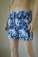 "Abercrombie & Fitch Campus Fit Floral Graphic Swim Tugger Shorts Blue L 34"" £60"
