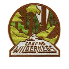 """CRAVING WILDERNESS ON PATCH 4"""" Outdoor Travel Adventure Embroidered Applique"""