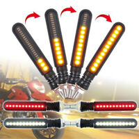 4Pcs Motorcycle 24 LED Turn Signal Indicator Sequential Flowing Water Lights