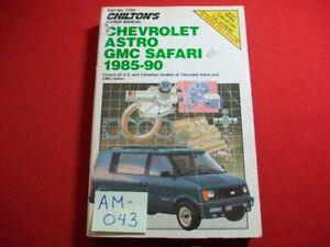 1985-1990 CHEVROLET ASTRO / GMC SAFARI VANS-REPAIR, TUNE-UP & MAINTENANCE MANUAL