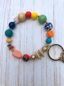 Plunder Design FashionTrend Jewelry Beaded Gold Cynthia Keychain Bangle Bracelet