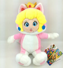Super Mario Bros 3D World Cat Peach Princess Pink Suit Plush Toy Soft Figure 7""